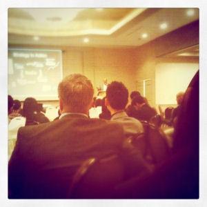 Zuhörer bei einem Vortrag